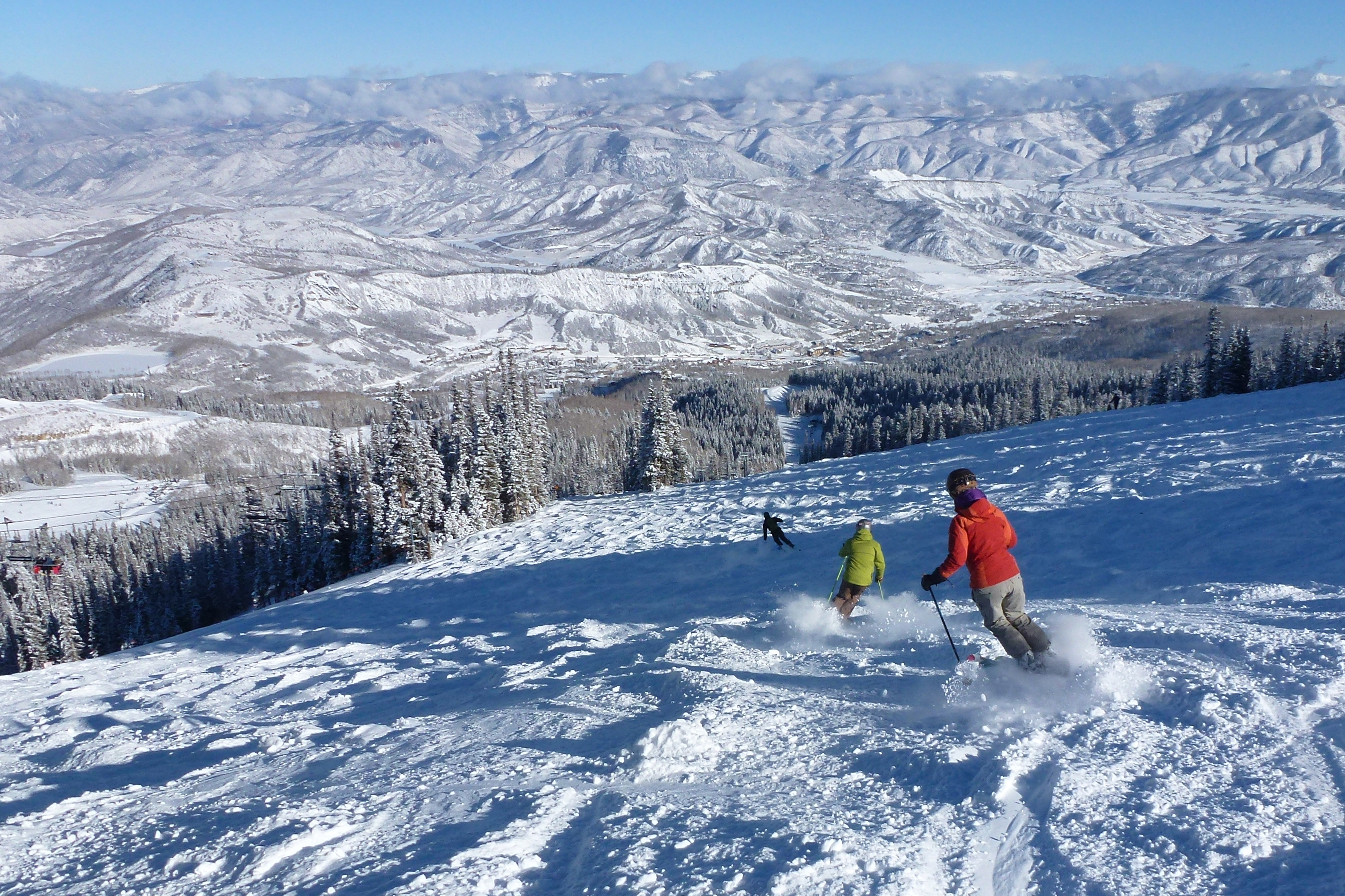 perfect timing at buttermilk and snowmass - colorado ski country usa